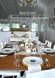 rustic and gold thanksgiving table plus 4 easy crafts free