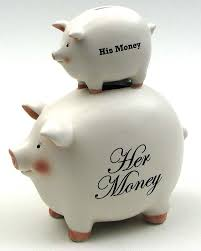 His And Her Wedding Gifts Banks His Money Her Money Pig Bank