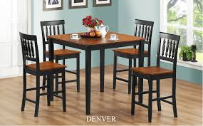 denver 5pc pub dining set u2013 furniture mattress los angeles and el