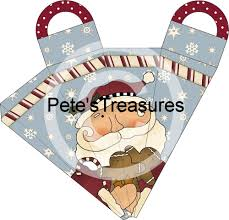 pete u0027s treasures folkart santa christmas icicle cone box party