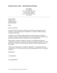Cover Letter Administrative Assistant Template Cover Letter Template Administrative Assistant Cover Letter