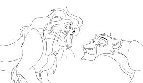 lion king coloring pages zira bebo pandco