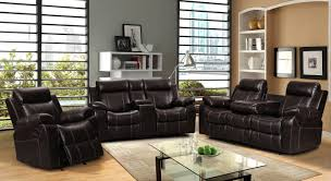 leather livingroom set vivienne brown leather air 3 pc reclining sofa set with