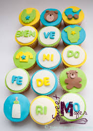cupcakes baby shower boy