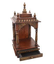 wooden temple pooja mandir copper painted buy wooden temple
