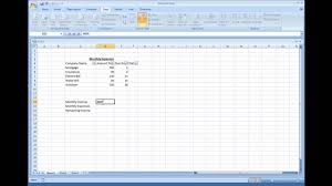 Making A Basic End Table by Microsoft Excel Creating A Simple Expense Sheet Youtube