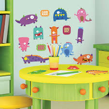 monster wall decals totally kids bedrooms monsters peel stick wall decals