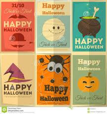 halloween posters set stock vector image 43636344