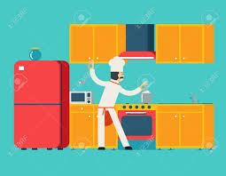 House Flat Design by Chief Cook Food Dish Room Kitchen Furniture House Interior Icons