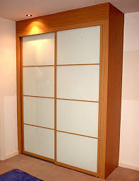 Customized Closet Doors Closet Storage Minimalist Wooden Closet With Sliding Door
