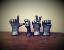handmade american sign language sculpture by signlanguagehands