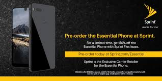 essential phone pre order begins today from sprint exclusive