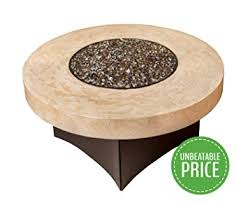 amazon gas fire pit table amazon com gas fire pit table oriflamme tuscan stone the award