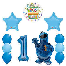 cookie party supplies sesame cookie monsters 1st birthday party supplies walmart