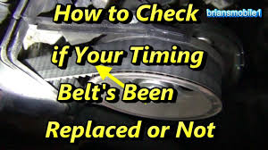 lexus es330 timing belt how to tell if your timing belt u0027s been replaced youtube