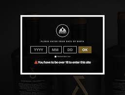 mount age verification splash page designstub free website