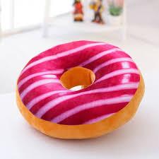 40cm colourful creative 3d plush donut throw pillow sofa car