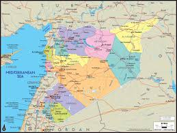 World Map Syria by Syria Wall Map Maps Com