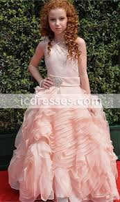 gorgeous puffy ball gown full length organza pageant dress