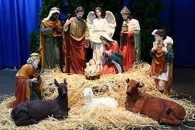 32 large scale fiberglass nativity set