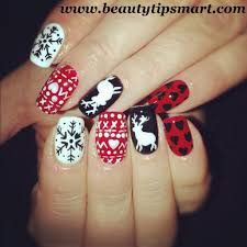 lovely christmas nail art designs ideas 2017
