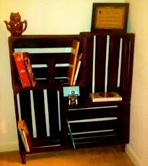 Wooden Crate Shelf Diy by Diy Crate Bookshelf Pallet Furniture Diy