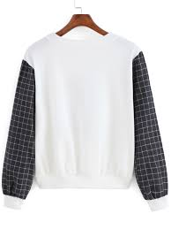 gothic thanksgiving pictures white plaid long sleeve gothic thanksgiving carnival letters print