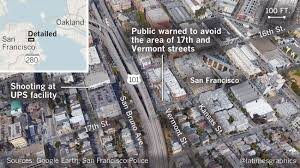 San Francisco Parcel Map by Four Killed In Shooting At San Francisco Ups Facility Including