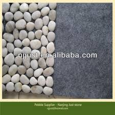 Pebble Stone Rug White Color River Pebble Stone Door Mat Pebble Rug Buy River
