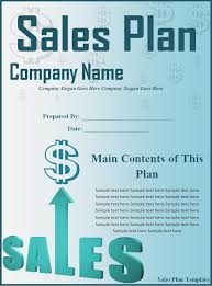 sales plan template word excel formats
