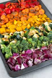 oil free rainbow roasted vegetables simple vegan blog