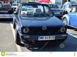 volkswagen classic car volkswagen golf cabrio 1800 classic car front editorial stock