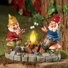 solar campfire light garden gnomes gnomeless shelter pinterest