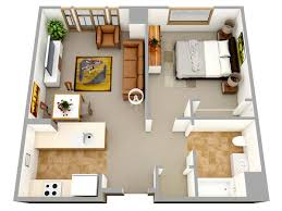 floor plan for a house rendered one bedroom house designs small 3 bedroom house designs