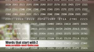 words that start with z youtube inside 4 letter words that begin
