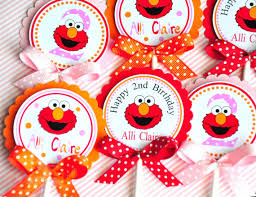 elmo decorations elmo cupcake toppers elmo birthday party decorations party