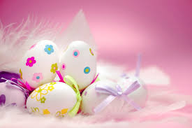pink easter eggs happy easter eggs gift in pink background hd wallpapers