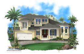 apartments waterfront house plans olde florida home plans stock