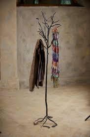 wrought iron twig coat rack free standing