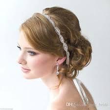 handmade headbands rhinestone bridal headbands ribbon tie back prom party