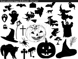Cat Silhouette Halloween Halloween Silhouettes Vector Yayimages Com