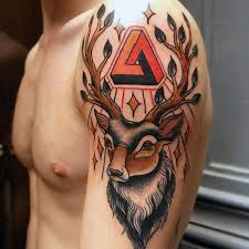 40 traditional deer tattoo designs for men animal ideas
