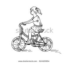 riding bicycle sketch stock vector 624520604 shutterstock