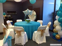 blue and gold baby shower decorations divertido party rental