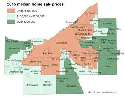 Cleveland State Map by Home Prices Up For Most Cuyahoga County Towns Last Year But Still