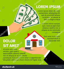 buy house poster men hands paying stock vector 732808312