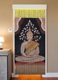 bamboo beaded curtain hand painted buddha beads of paradise