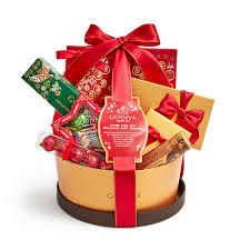 basket gifts christmas gifts and chocolates godiva