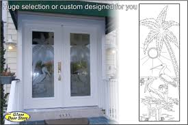 Etched Glass Exterior Doors Modern Frosted Glass Front Door With Impact Glass Door Insert