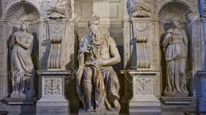 one of the amazing sculptures of michelangelo buonarotti moses